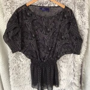 Maxazaria Miley Sheer blouse S parsley